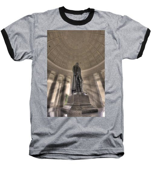 Jefferson Memorial Baseball T-Shirt by Shelley Neff