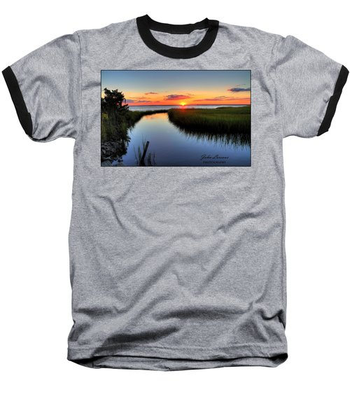 Jeffres Reflections Baseball T-Shirt by John Loreaux