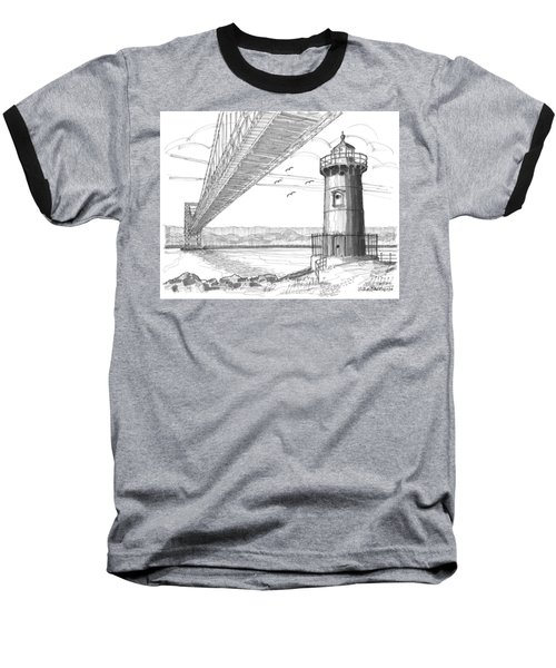 Jeffrey's Hook Lighthouse Baseball T-Shirt