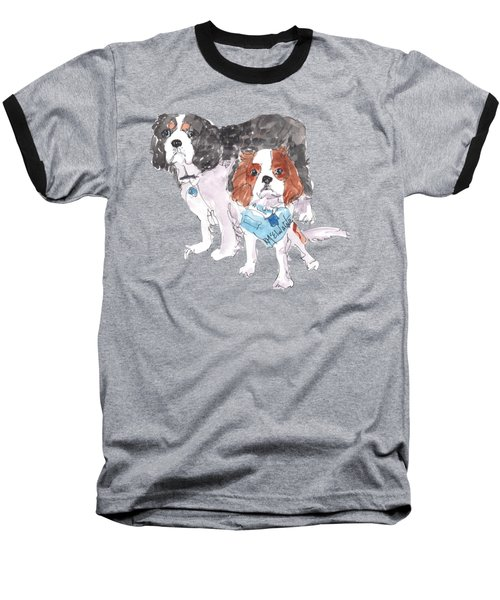 Jeffs Dogs Watercolor Kmcelwaine  Baseball T-Shirt