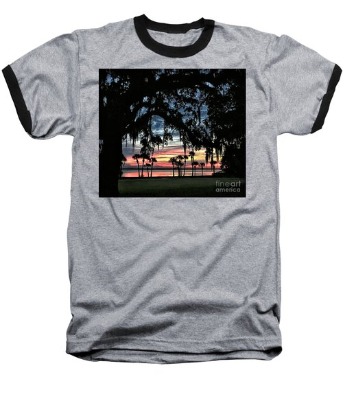Jekyll Island Georgia Sunset Baseball T-Shirt by Walt Foegelle