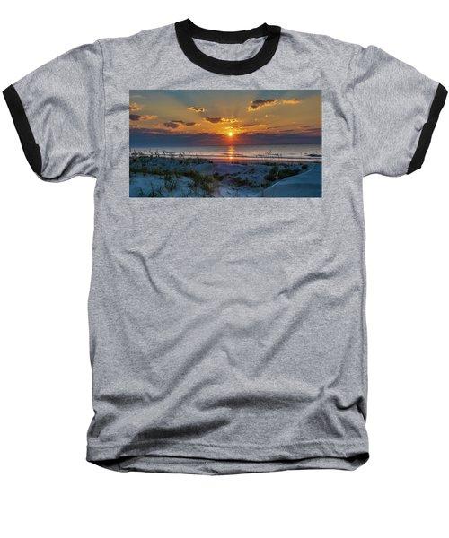 Jekyll Island Sunrise Baseball T-Shirt