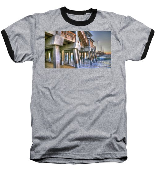 Jennette's Pier Baseball T-Shirt by Scott and Dixie Wiley