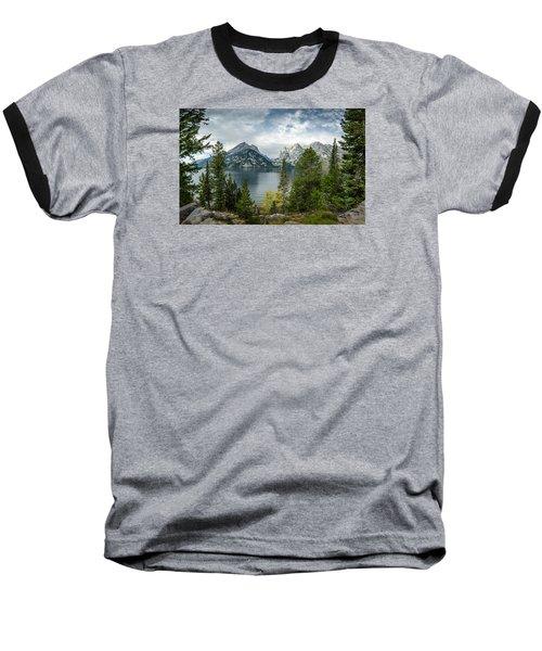 Jenny Lake Overlook Baseball T-Shirt