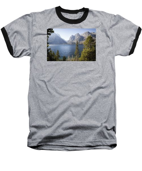 Jenny Lake Baseball T-Shirt by Shirley Mitchell