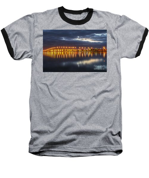 Jensen Beach Causeway #5 Baseball T-Shirt by Tom Claud