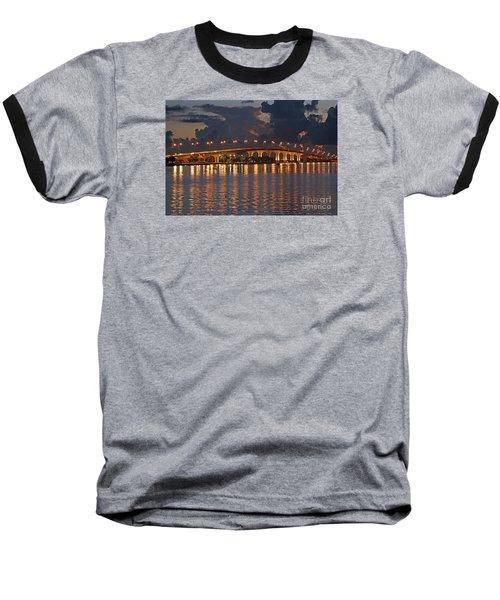Jensen Beach Causeway Baseball T-Shirt by Tom Claud
