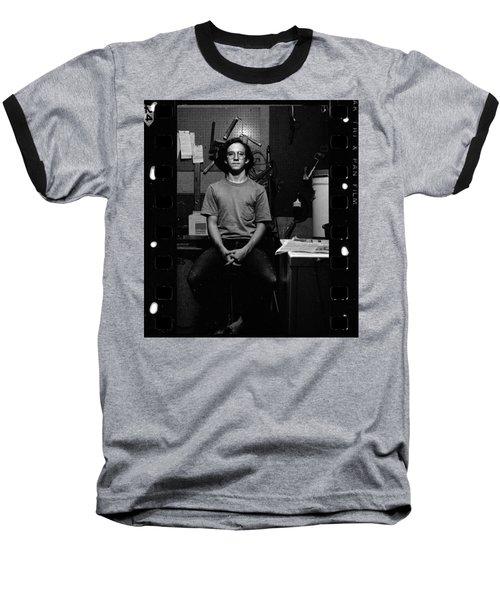 Self Portrait, In Darkroom, 1972 Baseball T-Shirt