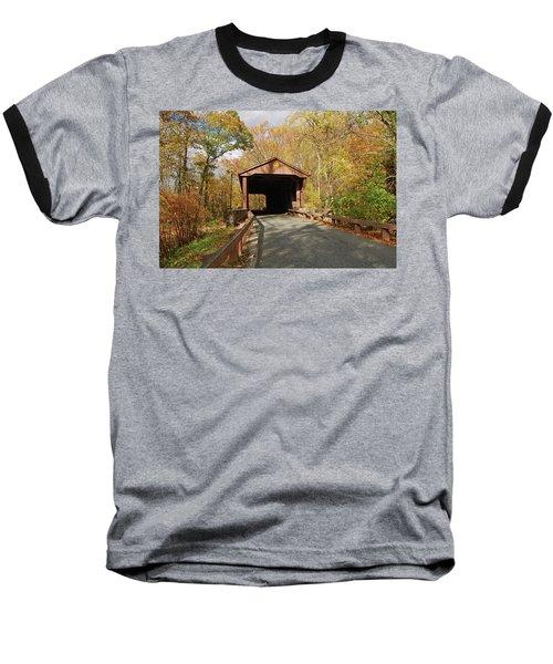 Jericho Covered Bridge Baseball T-Shirt