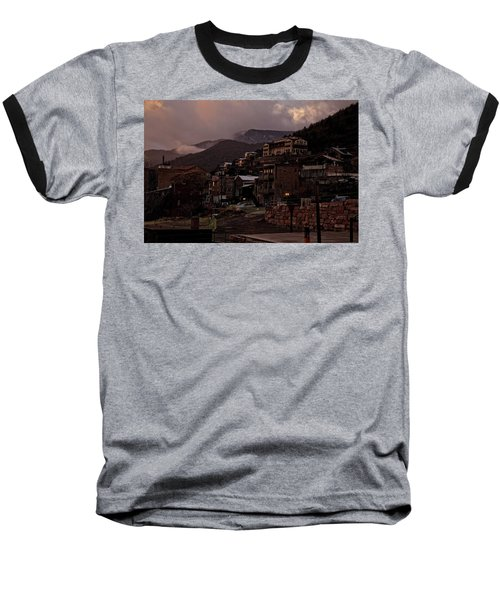 Baseball T-Shirt featuring the photograph Jerome On The Edge Of Sunrise by Ron Chilston