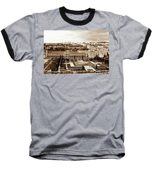 Jeronimos Monastery In Sepia Baseball T-Shirt
