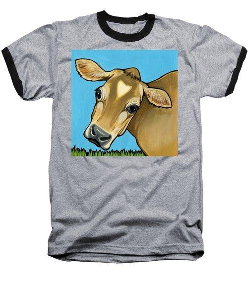 Jersey Baseball T-Shirt by Leanne Wilkes