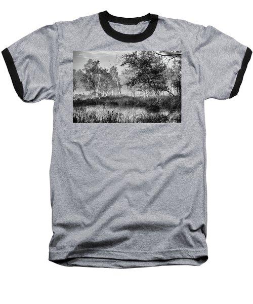 Jersey Pine Lands In Black - White Baseball T-Shirt