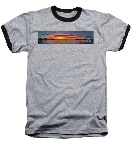 Jersey Shore Panorama Ship Bottom Baseball T-Shirt