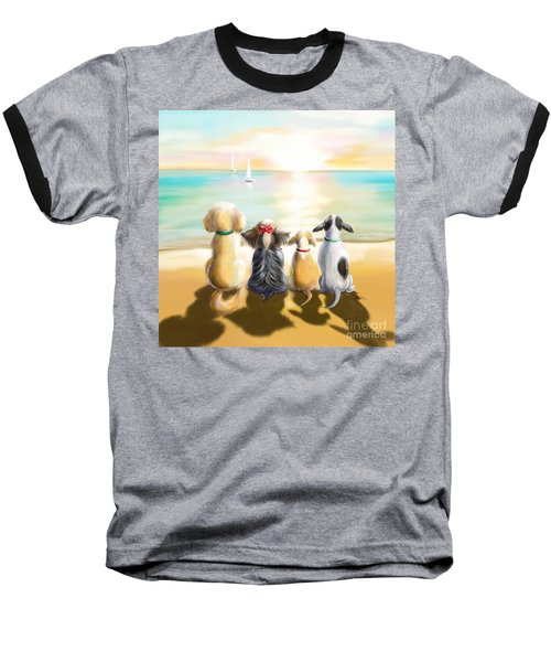 Jersey Shore Sunrise  Baseball T-Shirt