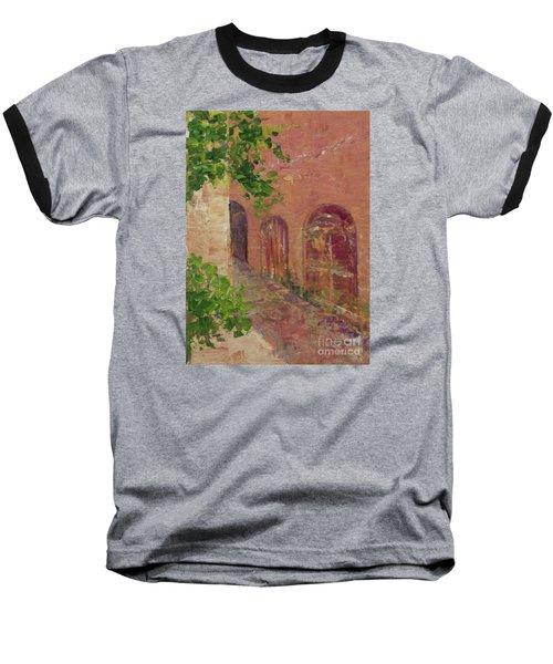 Jerusalem Alleyway Baseball T-Shirt by Gail Kent
