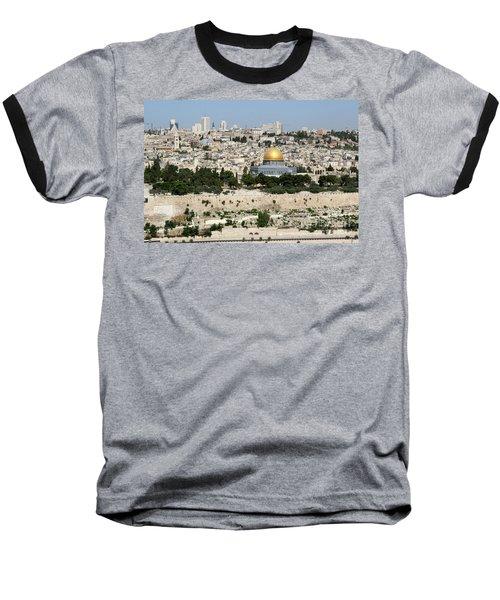 Jerusalem Skyline Baseball T-Shirt