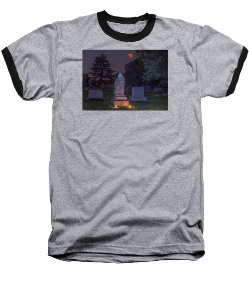 Baseball T-Shirt featuring the photograph Jessie Monument Under The Blood Moon by Stephen  Johnson