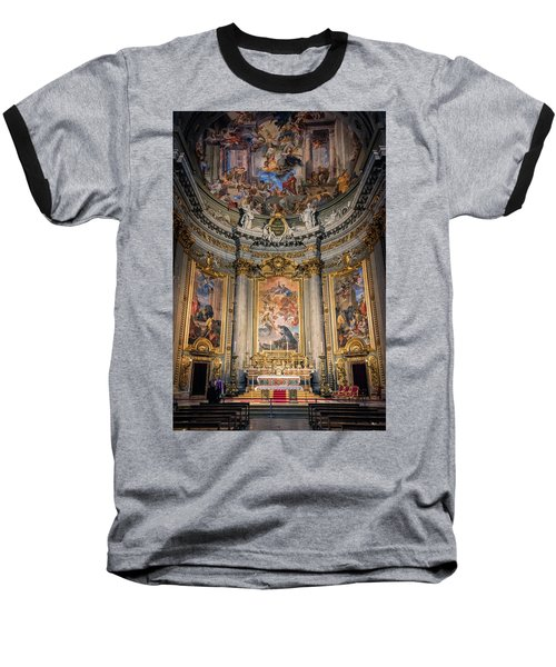 Baseball T-Shirt featuring the photograph Jesuit Church Rome Italy by Joan Carroll