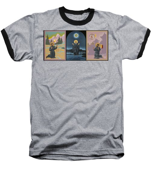 Jesuit Triptych-st Peter Faber-st Ignatius-st Francis Xavier Baseball T-Shirt