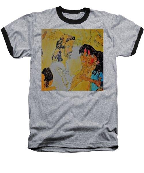 Jesus And The Children Baseball T-Shirt