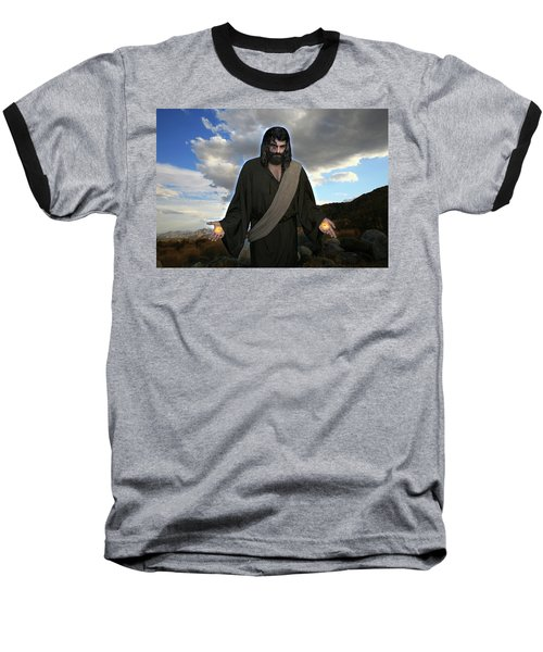 Jesus Christ- And He Withdrew Himself Into The Wilderness And Prayed Baseball T-Shirt