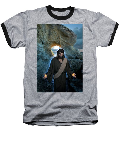 Jesus Christ- I Am With You Always Baseball T-Shirt