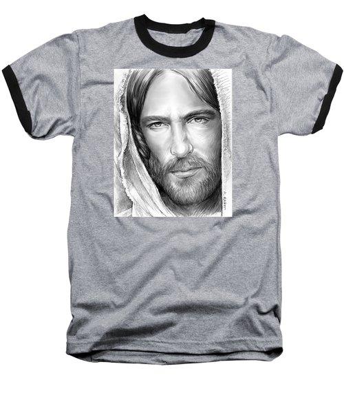 Jesus Face Baseball T-Shirt by Greg Joens