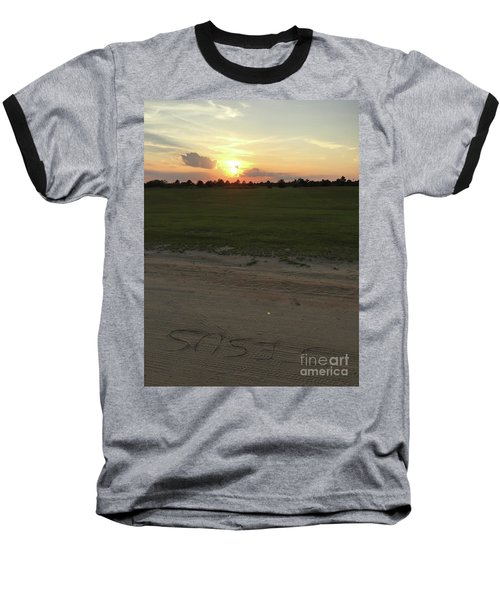 Jesus Healing Sunset Baseball T-Shirt