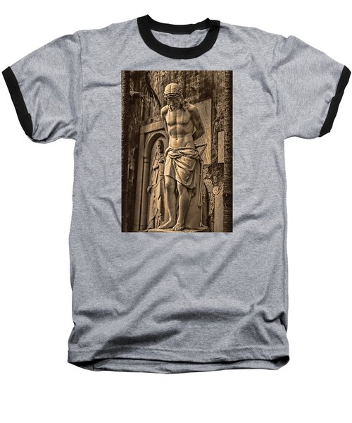 Baseball T-Shirt featuring the photograph Jesus In Rome by Trey Foerster