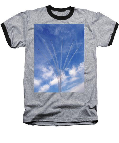 Jet Planes Formation In Sky Baseball T-Shirt