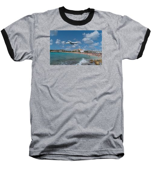 jetBlue at St. Maarten Baseball T-Shirt by David Gleeson