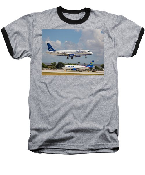 Jetblue Over Spirit Air Baseball T-Shirt
