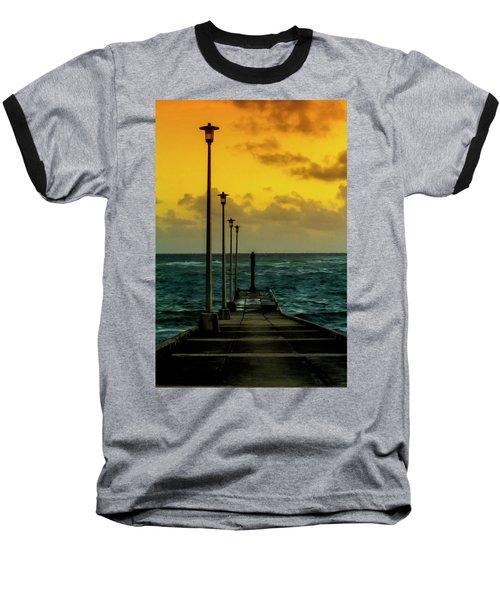 Jetty At Sunrise Baseball T-Shirt