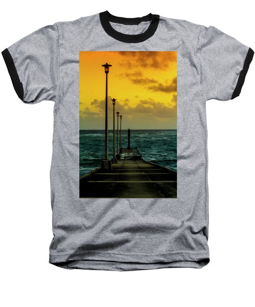 Jetty At Sunrise Baseball T-Shirt