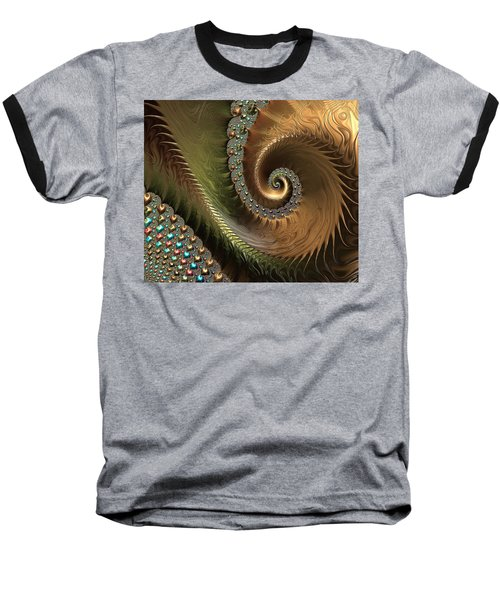 Jewel And Spiral Abstract Baseball T-Shirt