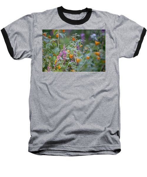 Jewel Weed With Dew Diamonds Baseball T-Shirt