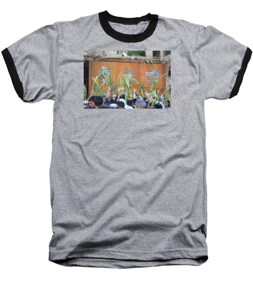 Jewish Sunrise Prayers At The Western Wall, Israel 4 Baseball T-Shirt