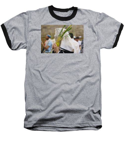 Jewish Sunrise Prayers At The Western Wall, Israel 5 Baseball T-Shirt