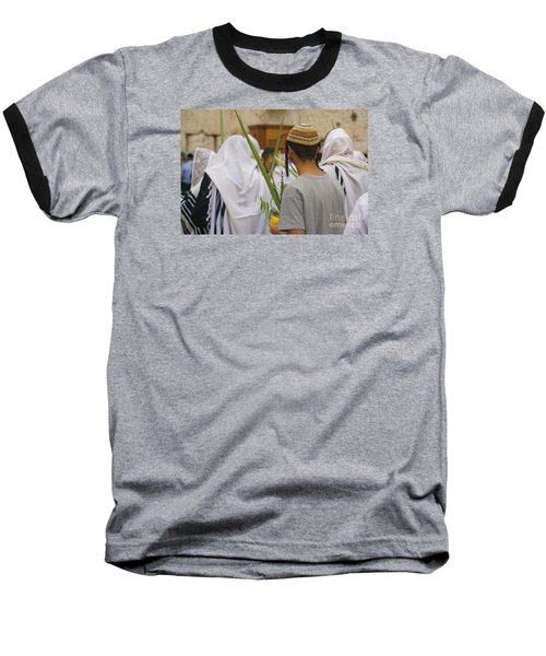 Jewish Sunrise Prayers At The Western Wall, Israel 8 Baseball T-Shirt
