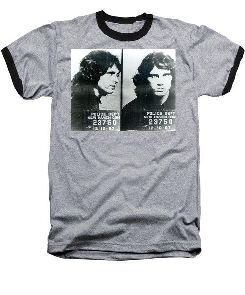 Jim Morrison Mug Shot Horizontal Baseball T-Shirt