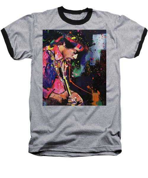 Jimi Hendrix II Baseball T-Shirt by Richard Day