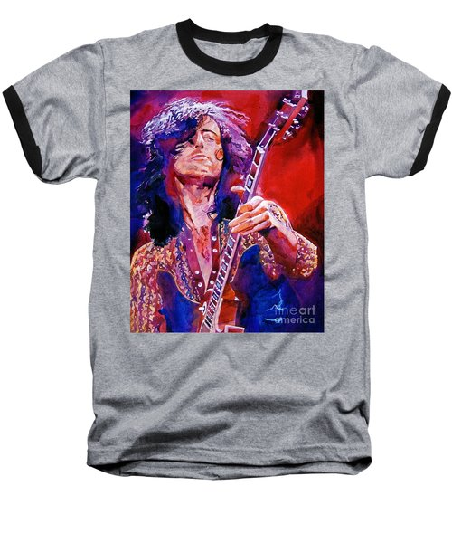 Jimmy Page Baseball T-Shirt by David Lloyd Glover