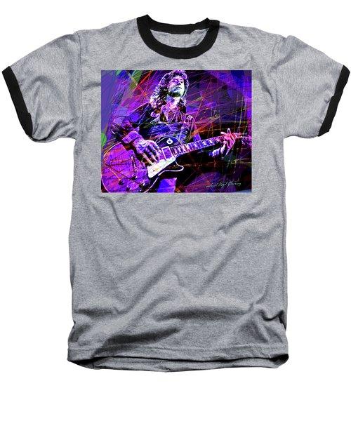 Jimmy Page Solos Baseball T-Shirt by David Lloyd Glover