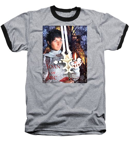 Baseball T-Shirt featuring the painting Joan , Light Of France by Suzanne Silvir