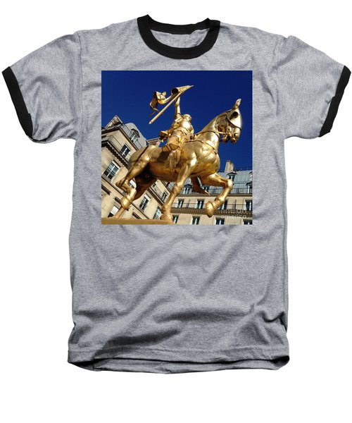 Baseball T-Shirt featuring the photograph Joan Of Arc - Paris by Therese Alcorn