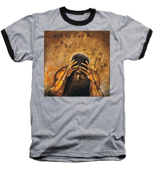 Job Baseball T-Shirt by Christopher Marion Thomas