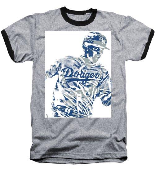 Joc Pederson Los Angeles Dodgers Pixel Art 10 Baseball T-Shirt