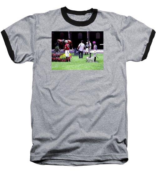 Baseball T-Shirt featuring the digital art Jockeys Painting by  Newwwman
