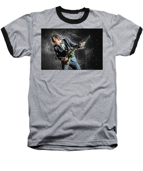 Joe Bonamassa Baseball T-Shirt by Taylan Apukovska